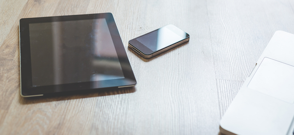 close up of tablet and smartphone